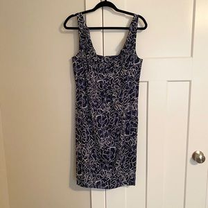 Ann Taylor Dress-Navy and White